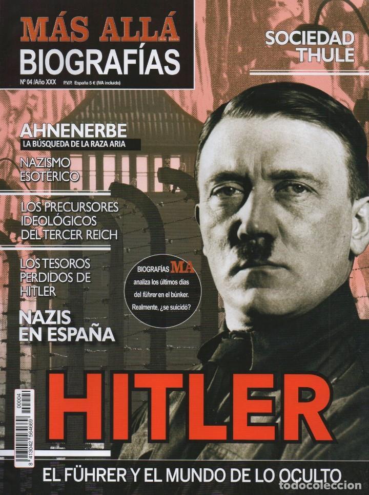 MAS ALLA BIOGRAFIAS N. 4 - HITLER (NUEVA) (Coleccionismo - Revistas y Periódicos Modernos (a partir de 1.940) - Revista Más Allá)