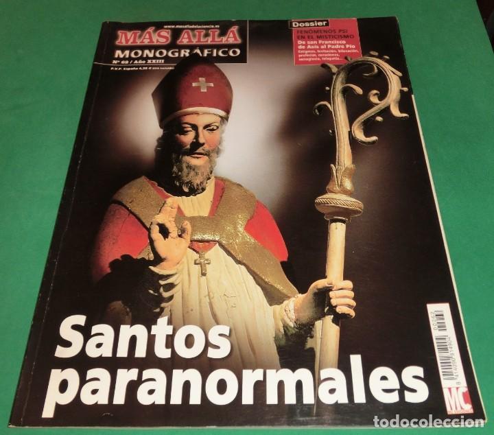 MÁS ALLÁ MONOGRÁFICO Nº 62 / AÑO XXIV: SANTOS PARANORMALES (Coleccionismo - Revistas y Periódicos Modernos (a partir de 1.940) - Revista Más Allá)