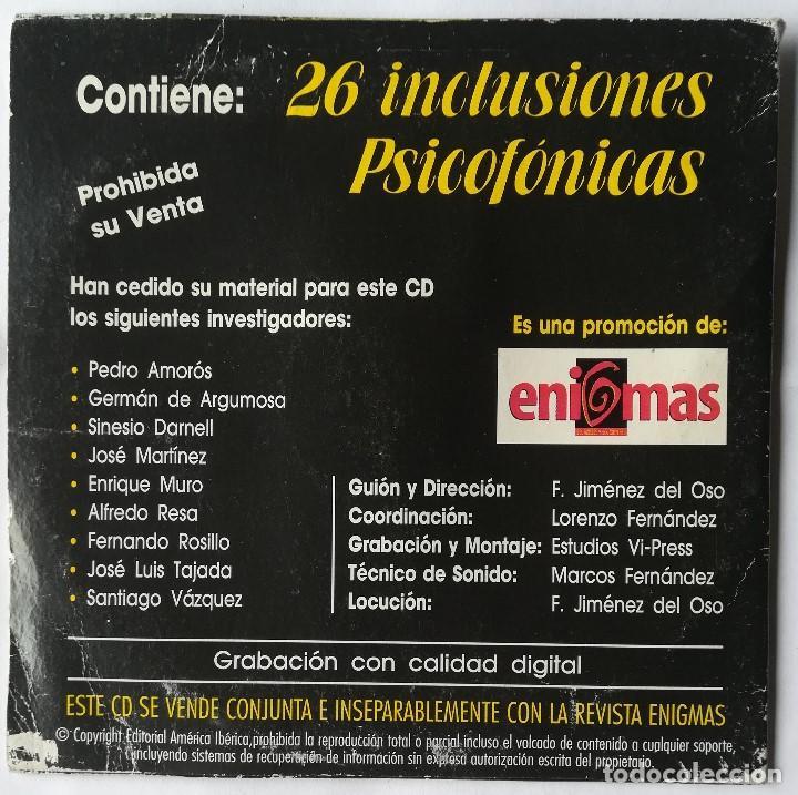 Coleccionismo de Revista Más Allá: PSICOFONÍAS - CD - Dr. Jimenez Del Oso - Foto 2 - 193390772