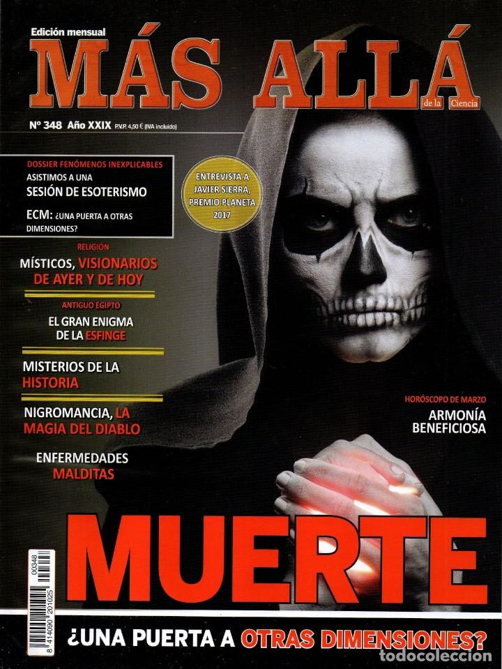 MAS ALLA N. 348 - EN PORTADA: MUERTE (NUEVA) (Coleccionismo - Revistas y Periódicos Modernos (a partir de 1.940) - Revista Más Allá)