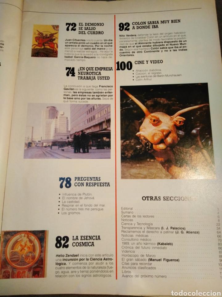 Coleccionismo de Revista Más Allá: MÁS ALLA-N°1,MARZO 1989,QUE NOS ESPERA DESPUÉS DE LA MUERTE,COLÓN SABÍA MUY BIEN A DONDE IBA,LA MAGI - Foto 3 - 205392571