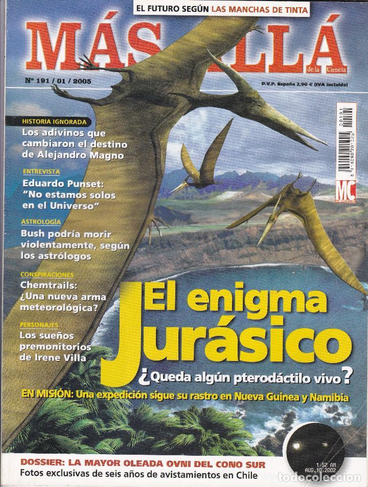 REVISTA MÁS ALLÁ: EL ENIGMA JURÁSICO (Coleccionismo - Revistas y Periódicos Modernos (a partir de 1.940) - Revista Más Allá)