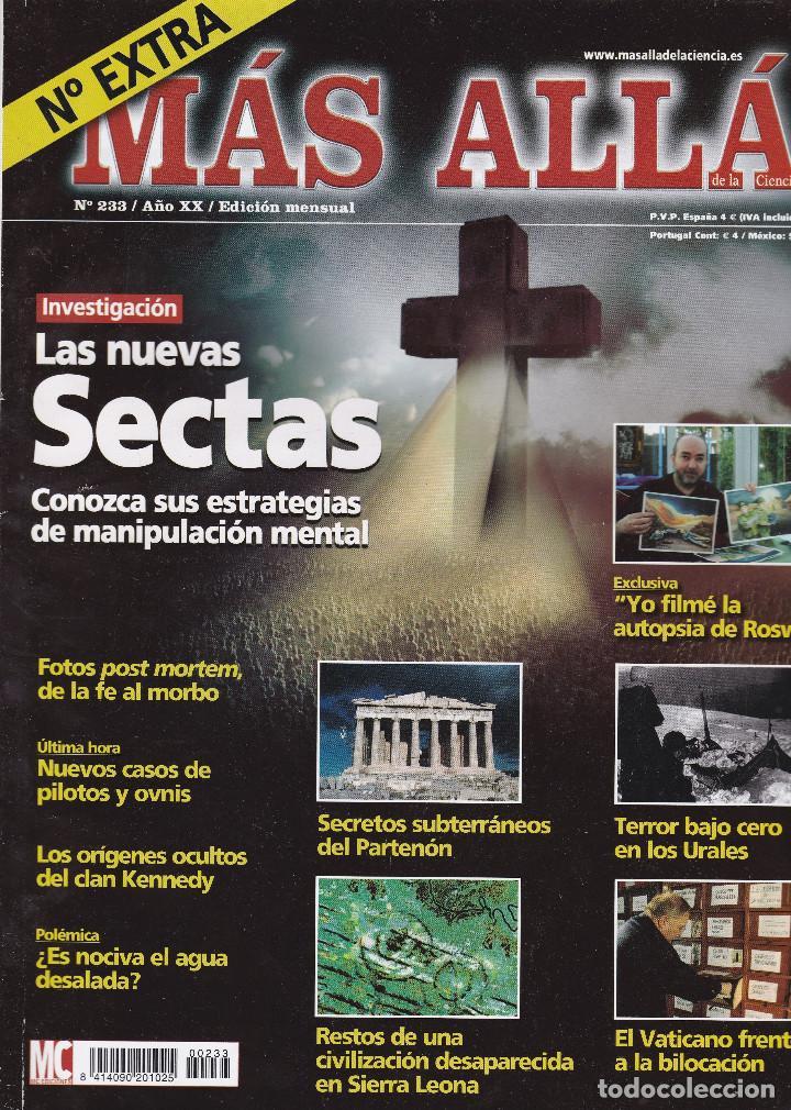 REVISTA MÁS ALLÁ: LAS NUEVAS SECTAS (Coleccionismo - Revistas y Periódicos Modernos (a partir de 1.940) - Revista Más Allá)
