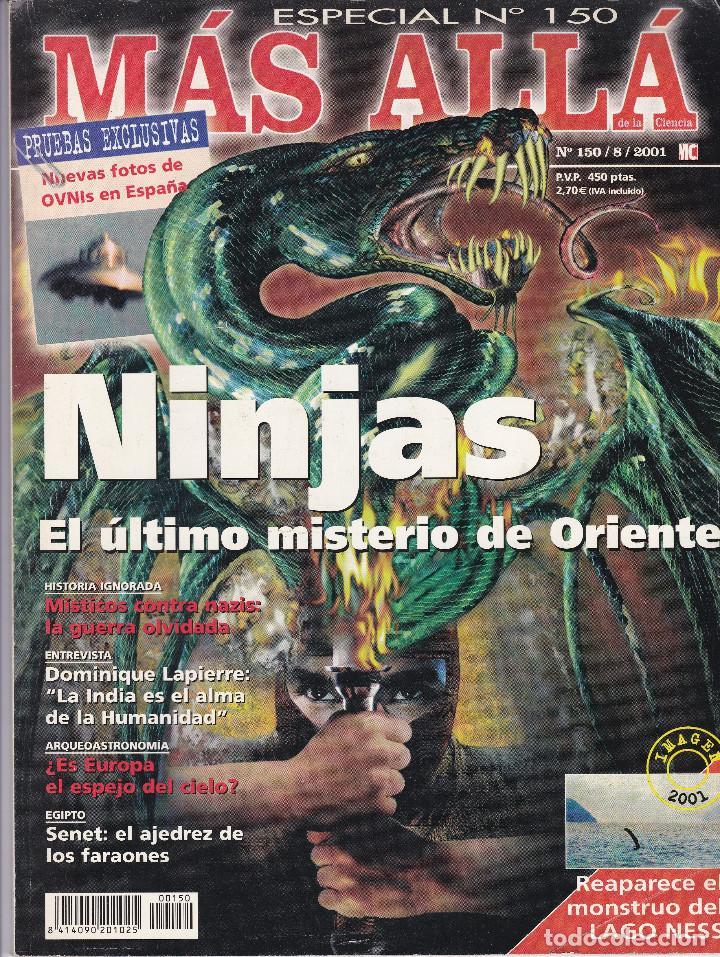 REVISTA MÁS ALLÁ: NINJAS EL ÚLTIMO MISTERIO DE ORIENTE (Coleccionismo - Revistas y Periódicos Modernos (a partir de 1.940) - Revista Más Allá)