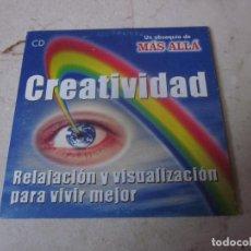 Coleccionismo de Revista Más Allá: CREATIVIDAD CD - RELAJACION Y VISUALIZACION PARA VIVIR MEJOR - REVISTA MAS ALLA 2001. Lote 244958405