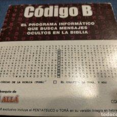 Coleccionismo de Revista Más Allá: CÓDIGO B. MENSAJES OCULTOS EN LA BIBLIA. Lote 252086825