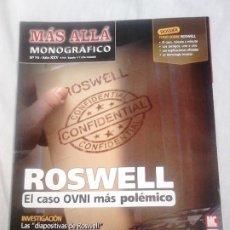 Coleccionismo de Revista Más Allá: MÁS ALLÁ MONOGRÁFICO, N.º 76 - EN PORTADA: ROSWELL, EL CASO MÁS POLÉMICO / UFOLOGÍA, OVNIS. Lote 251895515