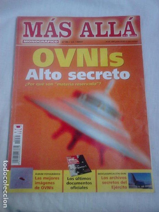 MÁS ALLÁ DE LA CIENCIA MONOGRÁFICO, N.º 35/12/2000. OVNIS: ALTO SECRETO / UFOLOGÍA (Coleccionismo - Revistas y Periódicos Modernos (a partir de 1.940) - Revista Más Allá)