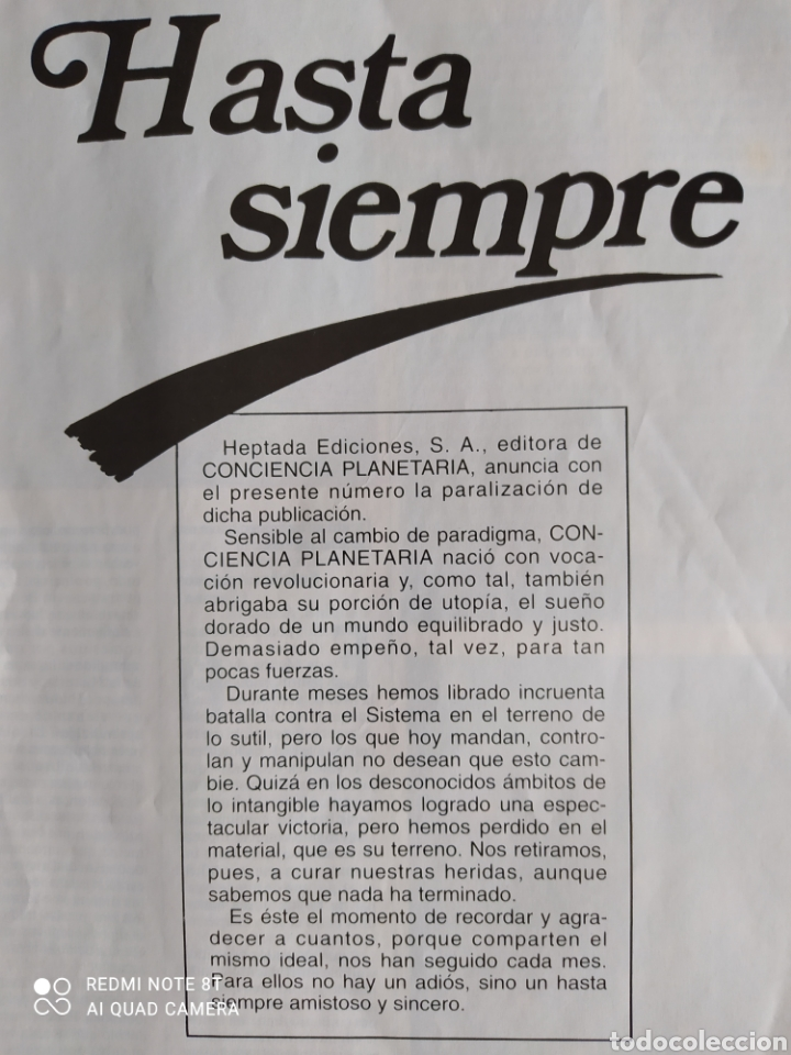 Coleccionismo de Revista Más Allá: Conciencia Planetaria, completa 25 núms. 8 + 17. - Foto 15 - 263026165
