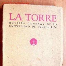 Coleccionismo de Revista Muy Interesante: LA TORRE Nº 14 - REVISTA GENERAL DE LA UNIVERSIDAD DE PUERTO RICO - AÑO 1956 - MAX AUB. Lote 27170673