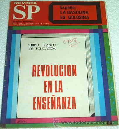 REVISTA SP EDICION EUROPEA - FEBRERO 1969 -- MUY INTERESANTE -- REVOLUCION CON EL LIBRO BLANCO (Coleccionismo - Revistas y Periódicos Modernos (a partir de 1.940) - Revista Muy Interesante)