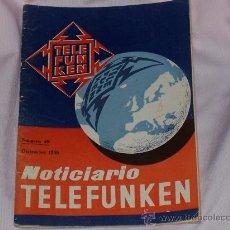 Coleccionismo de Revista Muy Interesante: REVISTA NOTICIARIO TELEFUNKEN , NUMERO 49 DE DICIEMBRE DE 1956. Lote 27590881