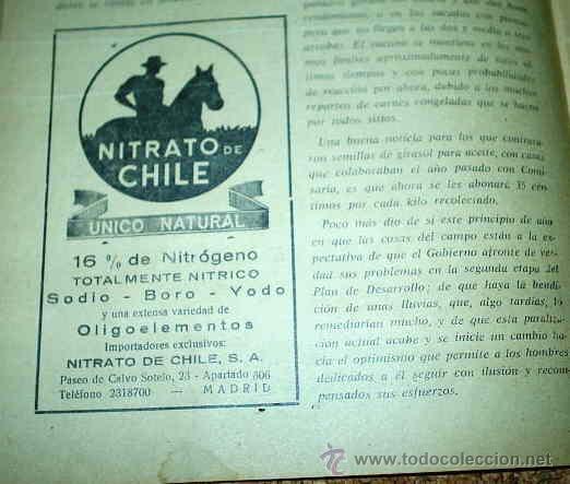 Coleccionismo de Revista Muy Interesante: CAMPO - REVISTA AGROPECUARIA - SUPL.SEMANAL DE PRECIOS - LOTE DE 44 Nos. de 1967-LEER TODO - Foto 3 - 24531358
