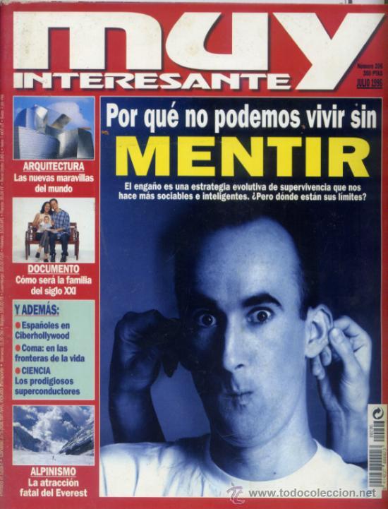 REVISTA MUY INTERESANTE. NUMERO 206 (Coleccionismo - Revistas y Periódicos Modernos (a partir de 1.940) - Revista Muy Interesante)