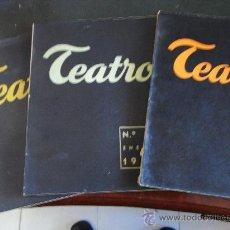 Coleccionismo de Revista Muy Interesante: TEATRO. REVISTA INTERNACIONAL DE LA ESCENA(16 VOLS). Lote 35616956
