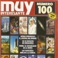 Coleccionismo de Revista Muy Interesante: REVISTA MUY INTERESANTE NUMERO 100 CON FASCIMIL DEL NUMERO 1 Y DESPLEGABLE ASALTO A UN CASTILLO. Lote 38294838