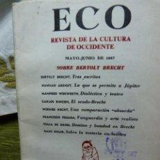 Coleccionismo de Revista Muy Interesante: REVISTA DE LA CULTURA DE OCCIDENTE--ECO--1967 INTONSO DE BOGOTÁ. Lote 39507917