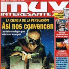 Coleccionismo de Revista Muy Interesante: REVISTA MUY INTERESANTE - Nº 248 - ENERO 2002 - LA CIENCIA DE LA PERSUASIÓN - DIARIO CIENTÍFICO 2001. Lote 42366464