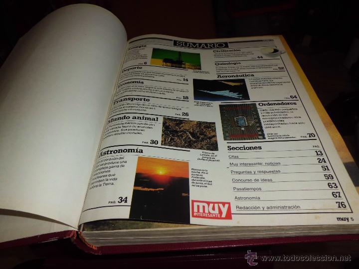Coleccionismo de Revista Muy Interesante: muy interesante lote de 8 volumenes encuadernados leer descripcion - Foto 2 - 43422064