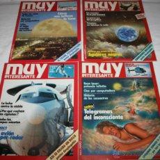 Coleccionismo de Revista Muy Interesante: LOTE DE 4 REVISTAS - REVISTA MUY INTERESANTE CON POSTERS Nº 6, 9, 10, 12. Lote 43778668