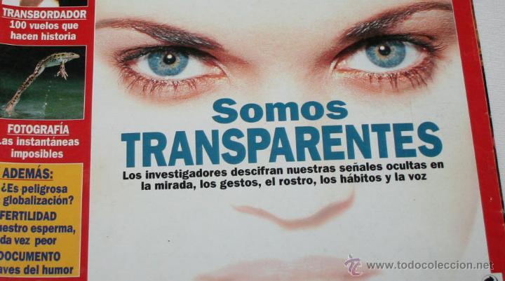 Coleccionismo de Revista Muy Interesante: REVISTA MUY INTERESANTE Nº 233 SOMOS TRANSPARENTES - Foto 2 - 43778740