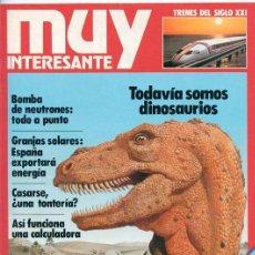 Coleccionismo de Revista Muy Interesante: REVISTA MUY INTERESANTE - Nº 4 - SEPTIEMBRE 1981 - TODAVÍA SOMOS DINOSAURIOS. Lote 44202079