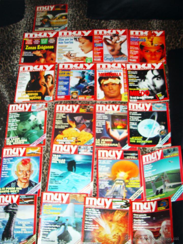 COLECCION DE 20 REVISTAS -MUY INTERESANTE- DE 1986 Y UNA DE 1985 (Coleccionismo - Revistas y Periódicos Modernos (a partir de 1.940) - Revista Muy Interesante)