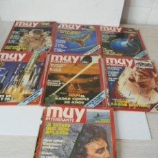 Coleccionismo de Revista Muy Interesante: REVISTAS MUY INTERESANTE AÑO 1985 LOTE DE 7. Lote 47339855