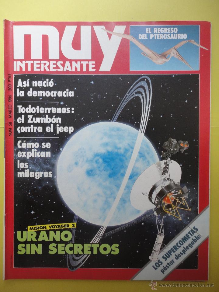 MUY INTERESANTE Nº 58. (Coleccionismo - Revistas y Periódicos Modernos (a partir de 1.940) - Revista Muy Interesante)