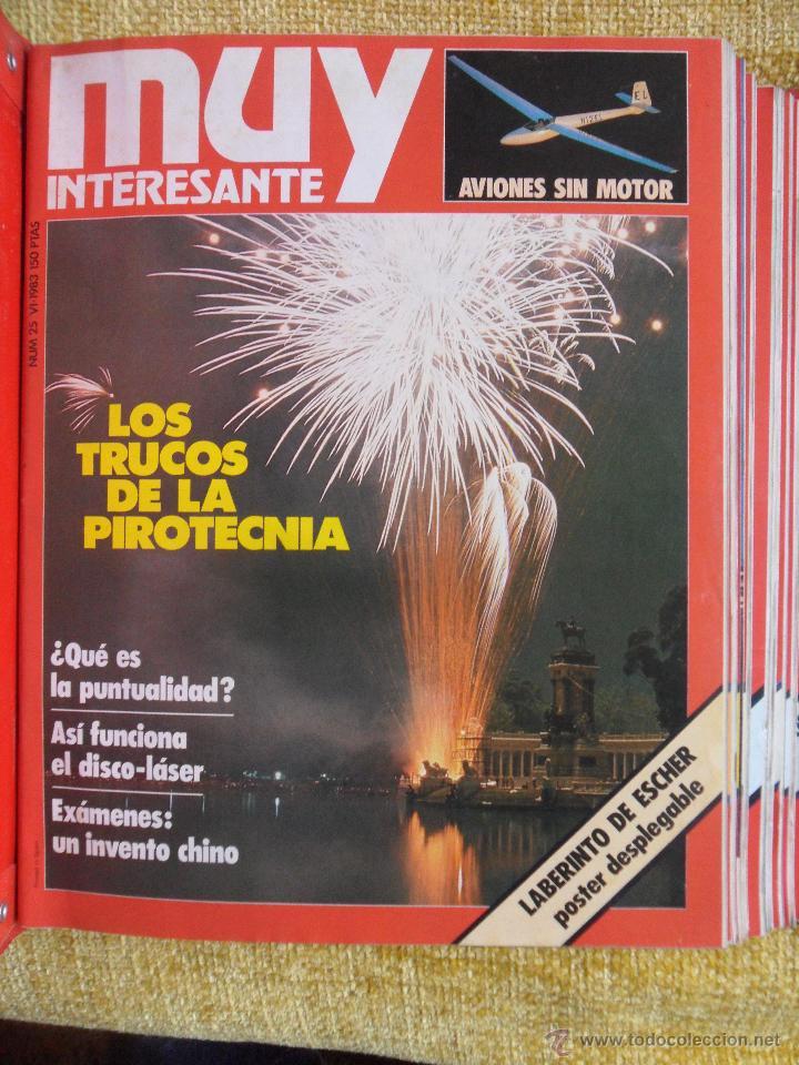 Coleccionismo de Revista Muy Interesante: MUY INTERESANTE. ARCHIVADOR CON 12 REVISTAS. NUMEROS 25 A 36. AÑO1 1983/84. 2600 GRAMOS. - Foto 2 - 48878473