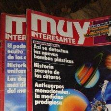 Coleccionismo de Revista Muy Interesante: REVISTAS MUY INTERESANTE AÑOS 80. Lote 50056832