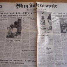 Coleccionismo de Revista Muy Interesante: REVISTA MUY INTERESANTE. PERIODICO DIARIO CIENTIFICO DE 1987. NUEVO.. Lote 50945240