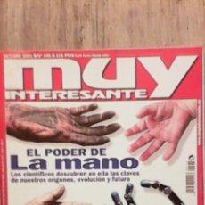 Coleccionismo de Revista Muy Interesante: MUY INTERESANTE EL PODER DE LA MANO N°245 OCTUBRE 2001. Lote 54204433