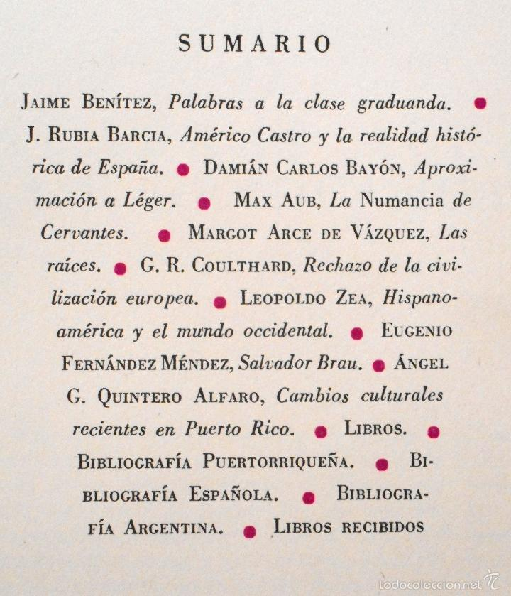Coleccionismo de Revista Muy Interesante: LA TORRE Nº 14 - REVISTA GENERAL DE LA UNIVERSIDAD DE PUERTO RICO - AÑO 1956 - MAX AUB - Foto 2 - 27170673