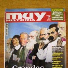 Collectionnisme de Magazine Muy Interesante: Nº 35 'MUY HISTORIA'(2011) * GRANDES PENSADORES DE LA HISTORIA. Lote 58127704