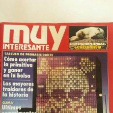 Coleccionismo de Revista Muy Interesante: REVISTA MUY INTERESANTE NOVIEMBRE 1991 N°126. COMO ACERTAR LA PRIMITIVA Y GANAR EN BOLSA. Lote 66811873