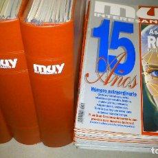 Coleccionismo de Revista Muy Interesante: MUY INTERESANTE - LOTE 57 REVISTAS DEL Nº 132 AL 188 (FALTA 176) + 2 ESPECIALES - BUEN ESTADO.. Lote 74644519
