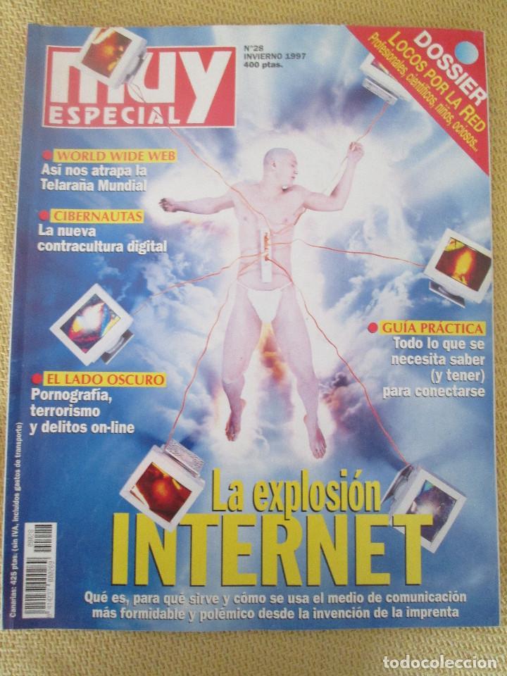 MUY ESPECIAL - 28 INVIERNO 1997 LA EXPLOSION DE INTERNET (Coleccionismo - Revistas y Periódicos Modernos (a partir de 1.940) - Revista Muy Interesante)