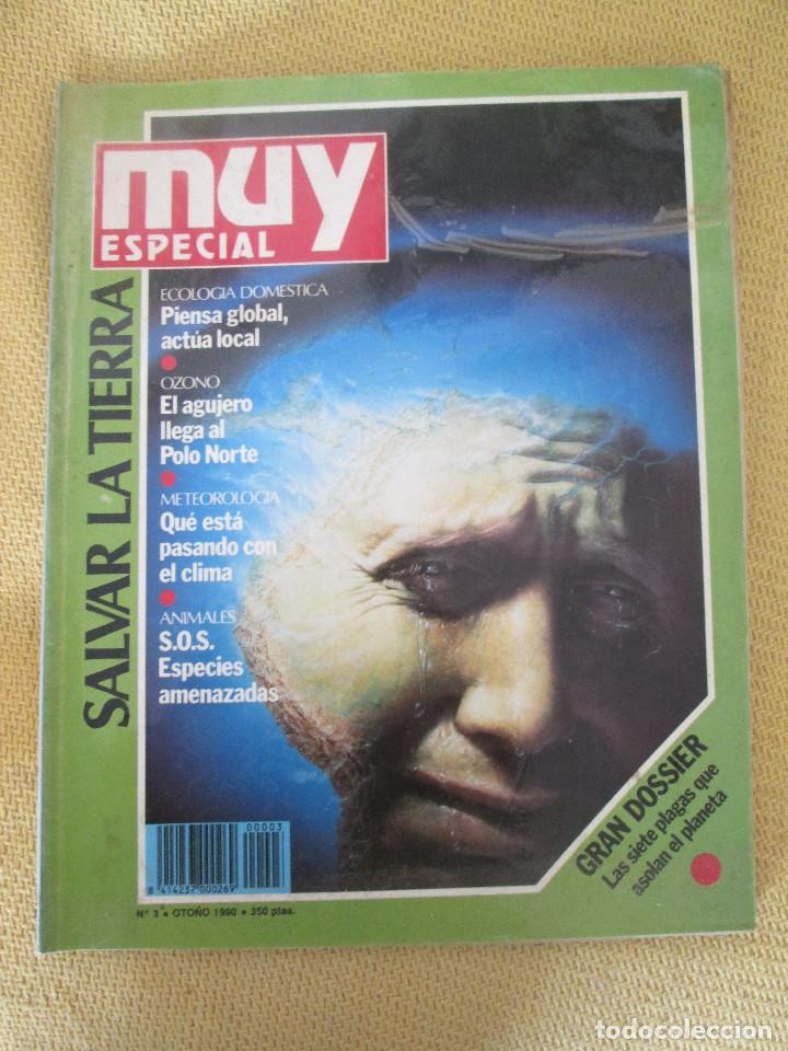 MUY ESPECIAL -3 OTOÑO 1990 SALVAR LA TIERRA (Coleccionismo - Revistas y Periódicos Modernos (a partir de 1.940) - Revista Muy Interesante)