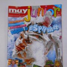 Coleccionismo de Revista Muy Interesante: REVISTA MUY INTERESANTE. JUNIOR Nº 58. AGOSTO 2009. HAGASE LA ESPUMA. INCLUYE POSTER. TDKR35 . Lote 139764372