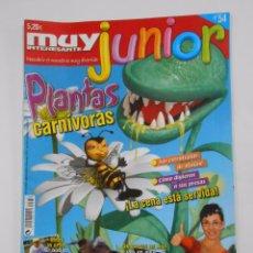 Coleccionismo de Revista Muy Interesante: REVISTA MUY INTERESANTE. JUNIOR Nº 54. ABRIL 2009. PLANTAS CARNIVORAS. INCLUYE POSTER. TDKR35 . Lote 114111419