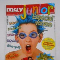 Coleccionismo de Revista Muy Interesante: REVISTA MUY INTERESANTE. JUNIOR Nº 70. AGOSTO 2010. ESPECIAL VERANO. TDKR35 . Lote 84350360