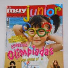 Coleccionismo de Revista Muy Interesante: REVISTA MUY INTERESANTE. JUNIOR Nº 46. AGOSTO 2008. ESPECIAL OLIMPIADAS. TDKR35 . Lote 84350672