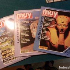 Coleccionismo de Revista Muy Interesante: CIVILIZACIONES PERDIDAS + GRECIA Y ROMA + ANTIGUO EGIPTO - LOTE 3 REVISTAS MUY INTERESANTE. Lote 95859535
