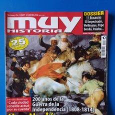 Coleccionismo de Revista Muy Interesante: REVISTA MUY HISTORIA N° 14 2007. UNA NACIÓN EN ARMAS. GUERRA DE LA INDEPENDENCIA.. Lote 164039876
