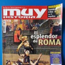 Coleccionismo de Revista Muy Interesante: REVISTA MUY HISTORIA N° 31 2010. EL ESPLENDOR DE ROMA.. Lote 146359993