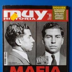 Collectionnisme de Magazine Muy Interesante: REVISTA MUY HISTORIA N° 53 2014. MAFIA, LA HISTORIA DEL CRIMEN ORGANIZADO.. Lote 110743947