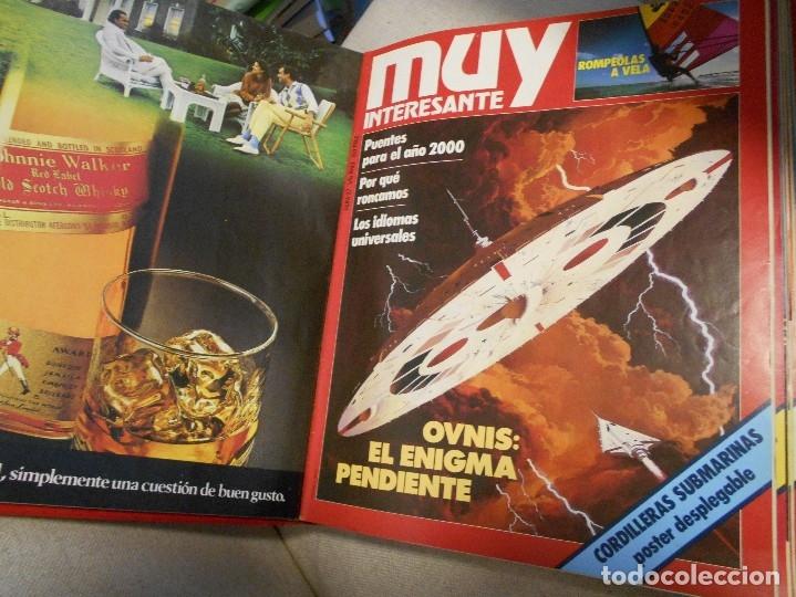 Coleccionismo de Revista Muy Interesante: MUY INTERESANTE. ARCHIVADOR CON 12 REVISTAS. NUMEROS 25 A 36. AÑO1 1983/84. 2600 GRAMOS. - Foto 4 - 48878473