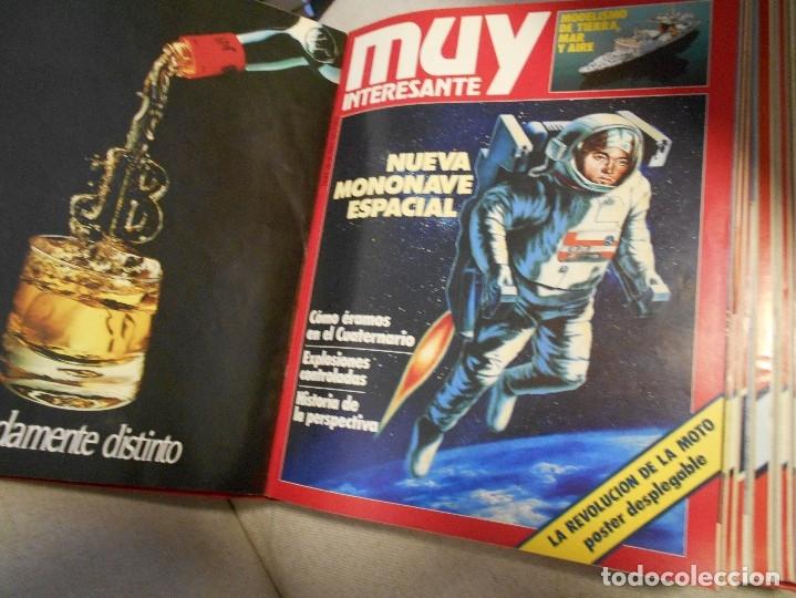 Coleccionismo de Revista Muy Interesante: MUY INTERESANTE. ARCHIVADOR CON 12 REVISTAS. NUMEROS 25 A 36. AÑO1 1983/84. 2600 GRAMOS. - Foto 5 - 48878473