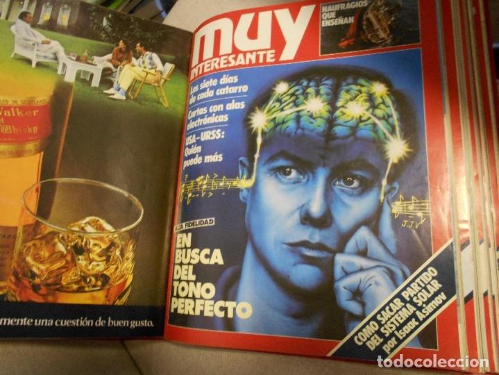 Coleccionismo de Revista Muy Interesante: MUY INTERESANTE. ARCHIVADOR CON 12 REVISTAS. NUMEROS 25 A 36. AÑO1 1983/84. 2600 GRAMOS. - Foto 6 - 48878473